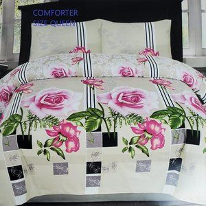 Cotton Comforter 7 piece complete Set